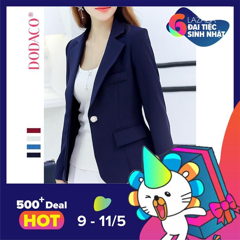 Áo vest nữ áo khoác nữ thời trang nữ DODACO DDC1908 – RRR96 (Xanh lam)