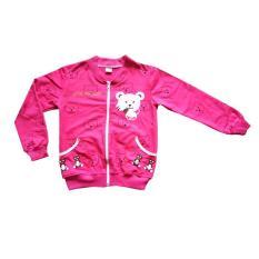 Áo khoác bé gái họa tiết gấu cho bé từ 10-24kg
