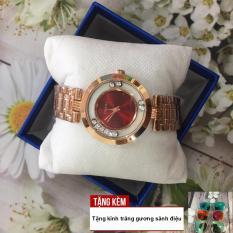 [TẶNG KÍNH TRÁNG GƯƠNG MẮT MÈO] Với thiết kế đá chạy viền cực kỳ sang trọng và dây thép đúc sáng bóng tạo nên vẻ quý phái cho chiếc đồng hồ GUOU G36-S4W