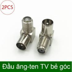 Đầu jack cắm angten TV bẻ góc (Phích cắm ăng ten TV) dạng vặn ren (bán 2 chiếc)