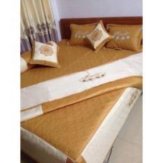 Bộ chăn ga gối 7 món HALY SAN 1.6 x 2m (Vàng)