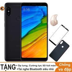 Xiaomi Redmi Note 5 Pro 64GB Ram 4GB Khang Nhung (Đen) + Ốp lưng + Cường lực 5D full màn (Đen) + Tai nghe Bluetooth siêu nhỏ