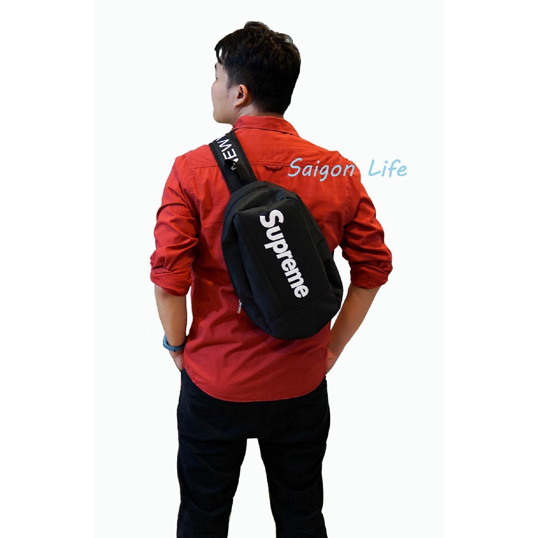 Túi đeo chéo Supreme Trung (Đen)