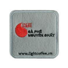 Miếng lót ly vải nỉ – Light Coffee – 9cm