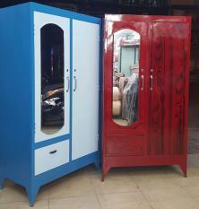 Tủ quần áo sắt 1m6 màu xanh – màu đỏ đô