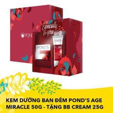 Hộp quà Kem dưỡng ban đêm Pond's Age Miracle 50g – TẶNG BB Cream 25g