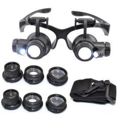 Kính lúp sửa chữa kính phóng đại đa năng 10x 15x 20x 25x (Đen)