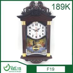 [ Vati ] Đồng hồ treo tường quả lắc hình ngôi nhà F19