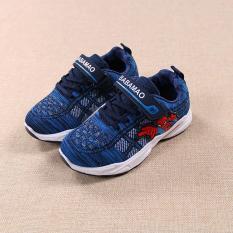 giày dành cho bé trai siêu nhân nhện xanh thời trang size 29-34