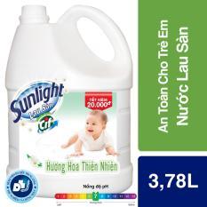 Nước Lau Sàn Sunlight Thiên Nhiên Mới, chai 3,8kg
