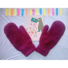 Găng tay – Bao tay nữ len dệt kim dày dặn ấm áp