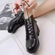 Giày bót cổ cao chất da