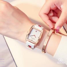 Đồng hồ nữ mặt quả trám chất liệu dây da bền đẹp GUOU ST-G8074