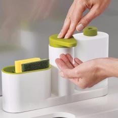 Kệ để đồ rửa chén, nước rửa bát, rửa tay đa năng 3in1