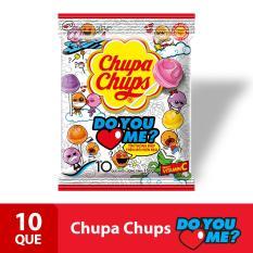 Kẹo mút Chupa Chups Hương Trái Cây Hỗn Hợp (Gói 10 Viên)