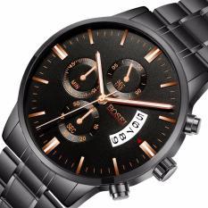 Đồng hồ nam BOISEI THANH LONG79 dây thép không gỉ cao câp ( Mặt đen )