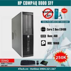 Máy tính để bàn HP Compaq 8000 Pro SFF Core 2 Duo E8400, RAM 4GB, HDD 160GB (Tặng bộ bàn phím, chuột, bàn di) – Hàng nhập khẩu
