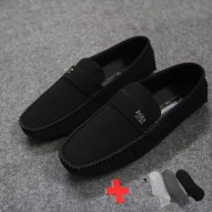 [TẶNG VỚ VNXK] Giày Lười Nam Phối Khóa Lịch Lãm GV603