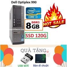 Thùng Đồng Bộ Dell Optiplex 990 (Core i3 2100 / 8G / SSD 120G ), Tặng USB Wifi , Bàn di chuột , Bảo hành 02 năm – Hàng Nhập Khẩu