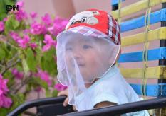 Nón Kết Có Khăn Voan chống bụi cho bé từ 4-12 tháng tuổi Duy Ngọc