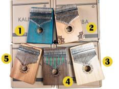 Kalimba thương hiệu PWS 17 phím màu gỗ Hàng có sẵn