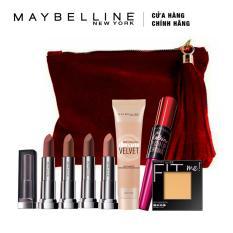 Bộ quà tặng mùa lễ hội: Top các sản phẩm Maybelline New York sản xuất và bán chạy tại Mỹ (Tông nude gợi cảm)
