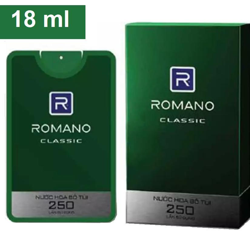 Nước Hoa BỎ TÚI cao cấp Romano 18 ml _ Classic