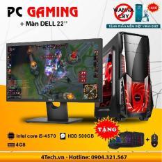 Bộ máy tính để bàn 4TechVP04 core i5, Ram 4GB, HDD 500GB, Màn hình dell 22 inch