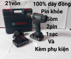 Máy khoan pin Bosch 21V siêu khỏe – (tặng kèm phụ kiện)