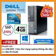 Thùng Dell optiplex 7010 ( Core i7 2600 / 4G / SSD 240G ), Tặng USB Wifi , Bàn di chuột – Bảo hành 24 tháng – Hàng Nhập Khẩu
