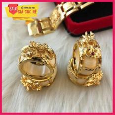 Nhẫn lông voi bạc Thái mạ vàng cao cấp