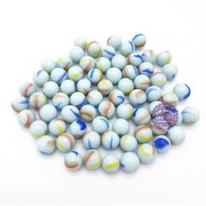 Bộ 70 viên bi ve 3 khía màu sữa size 1.6 cm bằng thủy tinh – ĐỒ CHƠI CHỢ LỚN