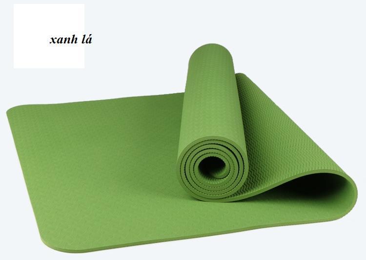 Thảm yoga PTE 8mm 1 lớp Tím ( tặng túi xịn)