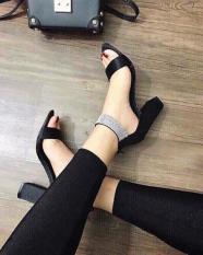 [ẢNH THẬT] Giày cao gót sandal 7 phân quai bản phối xoàn SD21