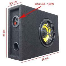 Loa Sub hơi siêu trầm công suất 150W dùng ghép nối với dàn âm thanh (Mặt loa màu đen)