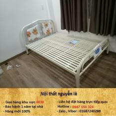 giường sắt, Mới 100%, ngang 1m6 dài 2m