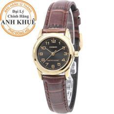Đồng hồ nữ dây da Casio Anh Khuê LTP-V001GL-1BUDF