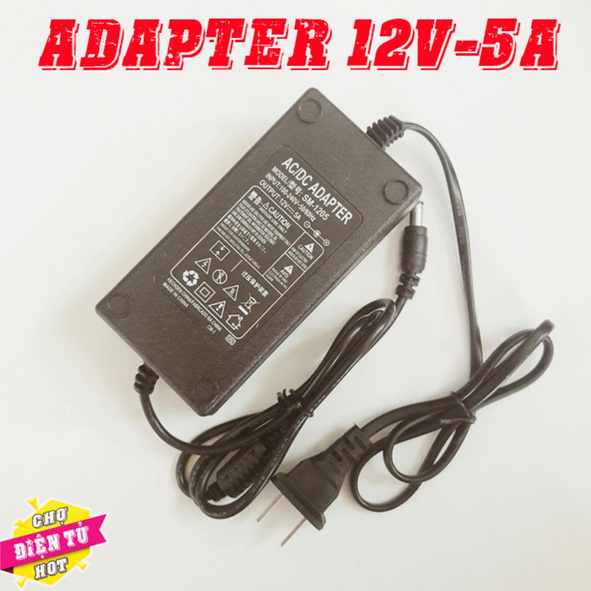 Mua Nguồn Adapter 12V 5A – Dùng cho máy bơm tăng áp mini 12v ở đâu tốt?