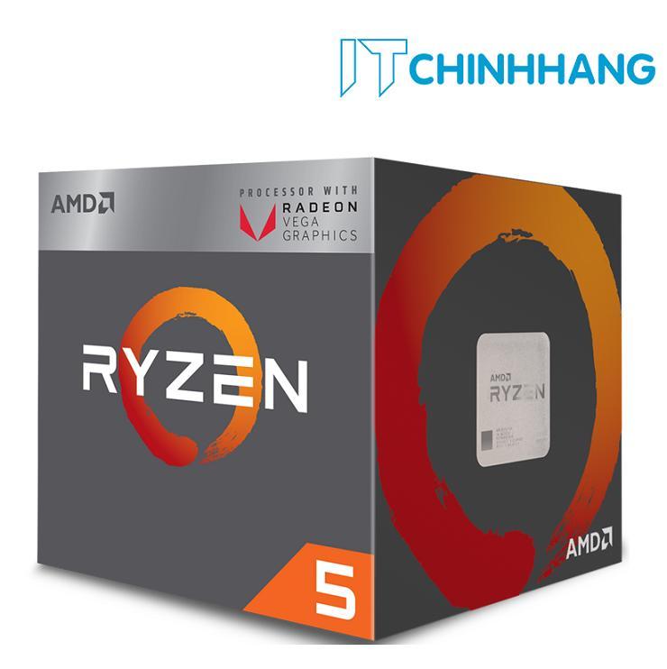 Giá Chip Vi Xử Lý AMD Ryzen 5 2400G ( 3.6 – 3.9 GHz ) – HÃNG PHÂN PHỐI CHÍNH THỨC Tại IT Chính Hãng Offical Store