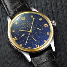 Đồng hồ nam dây da cao cấp Yazole N04 chạy 6 kim(Cập nhật 2019)