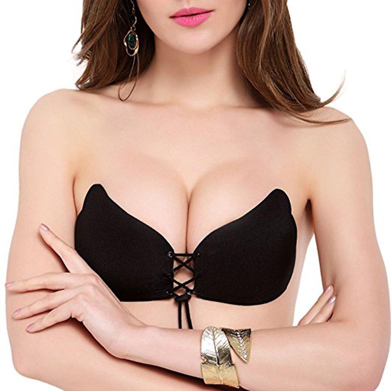 Áo lót nữ dán không dây nâng ngực dây rút AN88
