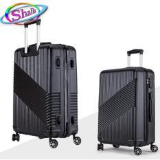 vali nhựa kéo cao cấp 20inch vân xéo Shalla ( hồng da,hồng mận,đồng,đen,xanh đen,xám bạc)