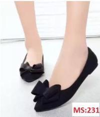 Giày búp bê da lộn nơ xinh xắn – MS:231