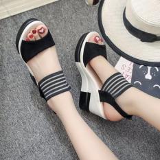 FS09D- Giày sandal đế xuồng nữ thời trang
