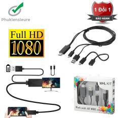 cáp chuyển từ điện thoại lên tivi loại 5 Pin và 11 Pin MHL KIT To HDMI (Đen)