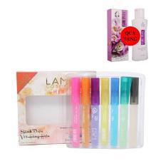 Bộ 7 nước hoa cây bút Lamcosmé (10ml/cây), bộ sưu tập hàng hiệu cho bạn gái sành điệu. Tặng Dung dịch vệ sinh phụ nữ 100ml