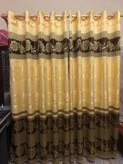 Bộ 2 rèm cửa cao cấp nhiều kích thước gấm vàng nâu