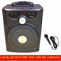(Tặng Micro Hát Karaoke) Loa Bluetooth di động 20W – Loa kéo P88, NT8, NT9 Âm Thanh Cực Hay – Loa Mini – Loa Vi Tinh – Loa May Tinh