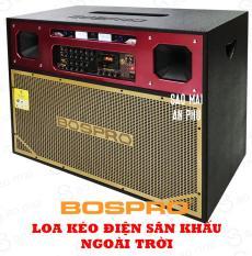 Loa kéo Điện BOSPRO PRO-E400S, loa karaoke Sân Khấu 2 bass 40CM, công suất đỉnh 800W, kèm 2 micro không dây