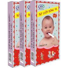 Rơ lưỡi Đông Fa vệ sinh miệng lưỡi cho bé ( 10 hộp,50 cái )